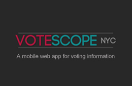 Votescope nyc beta Web Application for election information